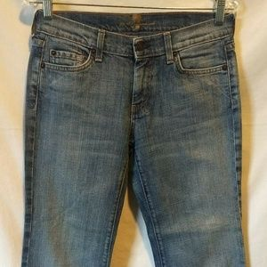 7 For All Mankind Boot Cut Jeans Size 28 Med Wash